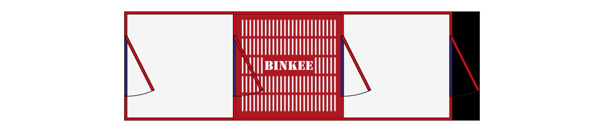 Binkee douchesluis - Budget - Plattegrond